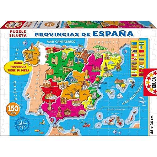 Educa- Provincias España Puzzle, 150 Piezas, Multicolor (14870)