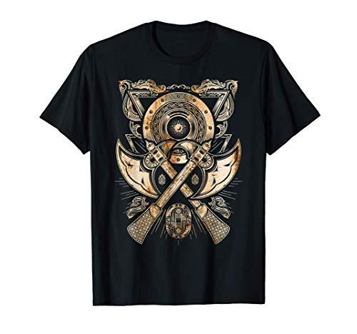 El hacha de guerra del guerrero vikingo, Valhalla, Nórdico Camiseta