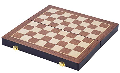 Engelhart Juego de ajedrez Madera Plegable Fresno 38.5 x 38.5 x 5.8 cm