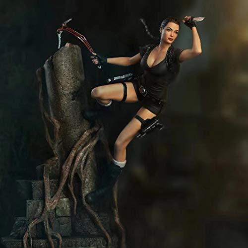 erfgh Figura Genuina del Juego Tomb Raider, Lara Croft, muñeca de Figura estándar de Lara vívido