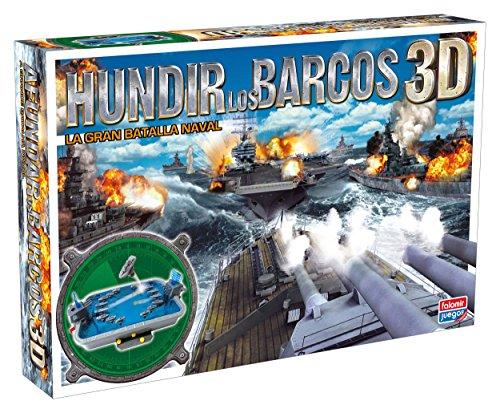 Falomir - Hundir los barcos 3D, juego de mesa (25010) , color/modelo surtido