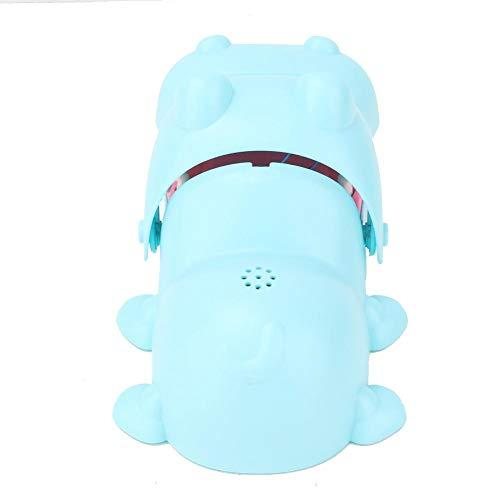 Fdit Hipopótamo Dentista morder Dedo Juguete portátil de Dibujos Animados hipopótamo Boca con Dientes Juguete morder Dedo Juego de Mesa Juguetes para niños(Azul)