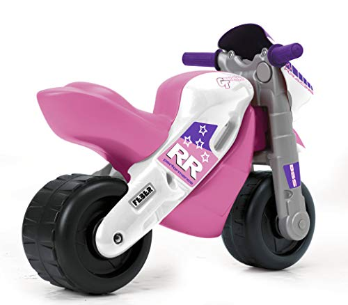 FEBER- Motofeber 2 Racing Girl con Casco, Color Rosa (Famosa 800008174)