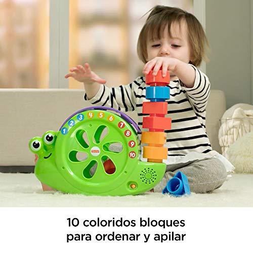 Fisher-Price Caracol formas y canciones, juguete para bebé +6 meses (Mattel FRB96) , color/modelo surtido