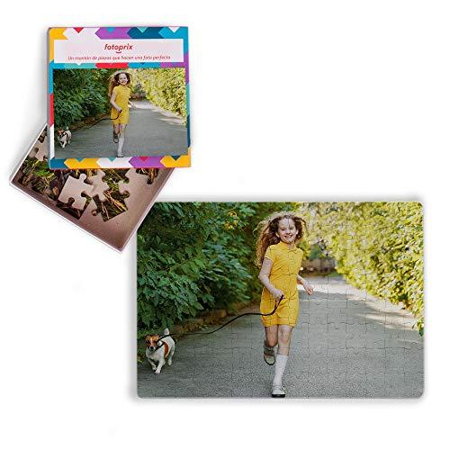 Fotoprix Puzzle Personalizado con tu Foto preferida y Texto de 40 Piezas | 5 Modelos Disponibles | Regalo Original con Foto Personalizada | Tamaño: 13x18 cms