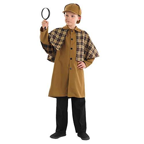 Fun Shack Disfraz de Detective Victoriano para niños. Conjunto histórico de niño para el día del Libro, Talla L