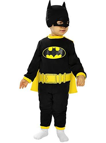 Funidelia   Disfraz Batman Oficial para bebé Talla 6-12 Meses ▶ Caballero Oscuro, Superhéroes, DC Comics, Hombre Murciélago - Multicolor