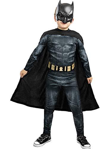 Funidelia   Disfraz de Batman - La Liga de la Justicia Oficial para niño Talla 3-4 años ▶ Caballero Oscuro, Superhéroes, DC Comics, Hombre Murciélago - Multicolor