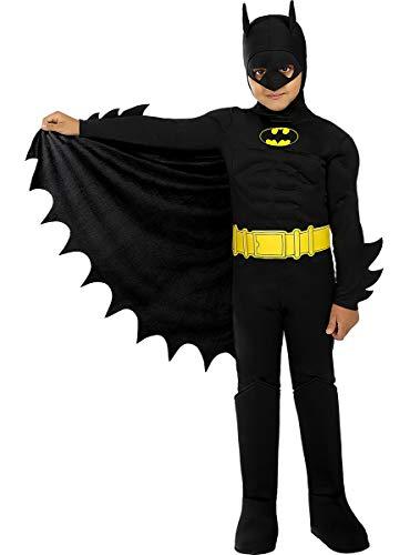 Funidelia   Disfraz de Batman Oficial para niño Talla 10-12 años ▶ Caballero Oscuro, Superhéroes, DC Comics, Hombre Murciélago - Multicolor
