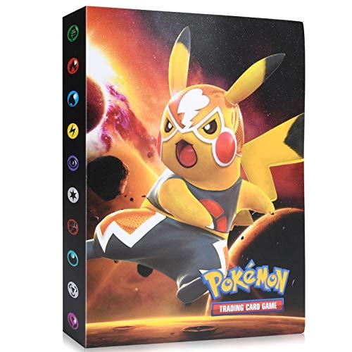 Funmo Pokemon Cartas Álbum, Álbum de Pokemon, Comercio Tarjeta Álbum, GX y EX Cartas Pokemon Álbum, Carpeta de Titular de Tarjetas de Pokemon, Pokemon Cards Album Protección