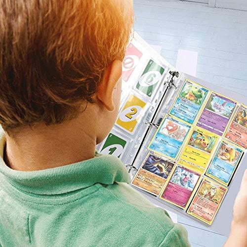 Funmo-Pokemon Trading Cards Album,540 Bolsillos de Cartas Almacenamiento,Funda para Cartas con Bolsillos de Doble Cara,30 páginas de Álbum de Fundas