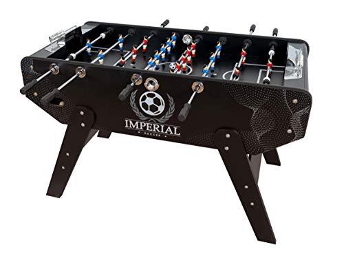 Futbolín Profesional Imperial - Futbolín para Adultos con Retorno de Bolas (Incluidas) - Futbolín Grande, Acabados Aluminio - Medidas Campo: 117x68cm