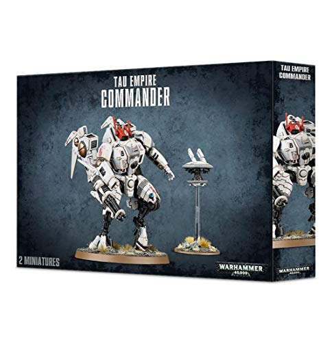 Games Workshop Miniaturas Citadel Tau Empire Commander Warhammer 40k, Figuras Incluye XV85 Enforce Battlesuit y XV86 Coldstar Battlesuit (99120113060)