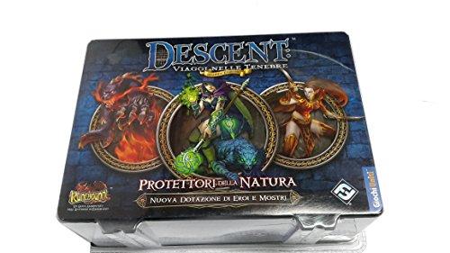 Giochi Uniti - Descent Viajes a los Teniebre: Protectores de la Naturaleza Runebound Juego de Mesa, Multicolor, GU474