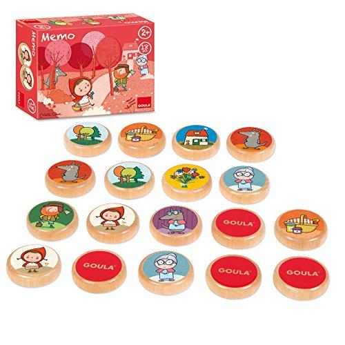 Goula- Memo Caperucita Roja Juego Educativo para Niños, Multicolor (53436)