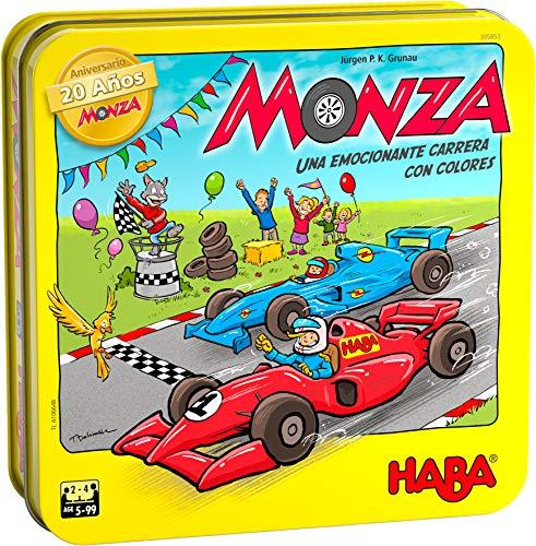 HABA 305853 - Monza 20 Aniversario, Juego de Dados, de Carreras y Estrategia a Partir de 5 años