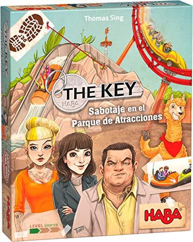 HABA 305857 - The Key - Sabotaje en el Parque de Atracciones, Juego de investigación, a Partir de 8 años