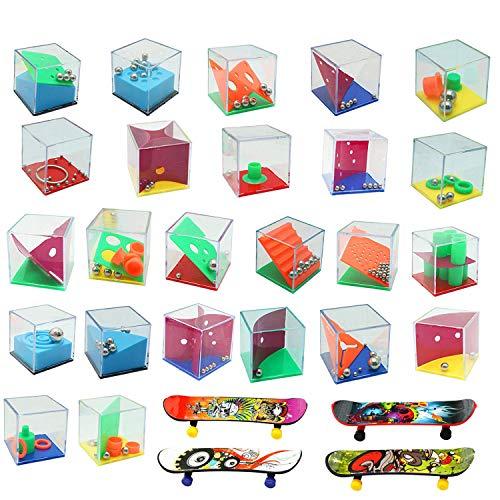 Harxin 28 Mini Juegos Rompecabezas, Set de 24 Puzzles, 4 Patineta Mini Dedo,Juegos con Niveles Diferentes, Juegos con Niveles Diferentes, Adultos o Niños (Mini Juegos Rompecabezas)