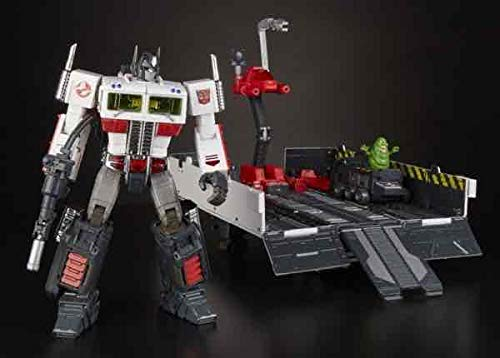 Hasbro- Optimus Prime X Ghostbusters Mp10g Ecto-35 Figura 24 Cm Transformers Sdcc 2019, Multicolor (HSBE4216E48)