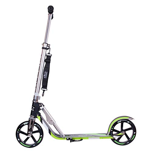 Hudora 14695 Big Wheel GS 205 - Patinete, color negro / verde