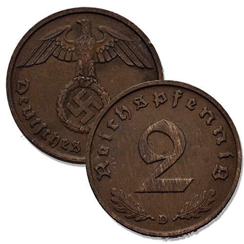 IMPACTO COLECCIONABLES Segunda Guerra Mundial - 6 Monedas Nazis del Tercer Reich
