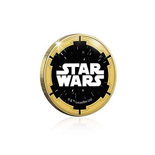 IMPACTO COLECCIONABLES Star Wars Trilogía Original Episodios IV - Vi - Stormtrooper - Moneda / Medalla Conmemorativa acuñada con baño en Oro 24 Quilates y Coloreada a 4 Colores - 44mm