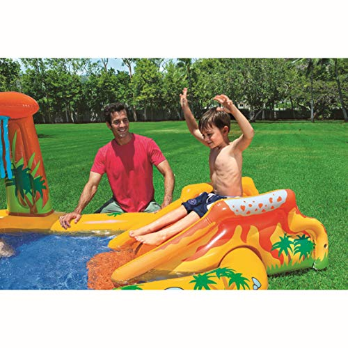 Intex 57444NP - Centro juegos hinchable dinosaurio 249 x 191 x 109 cm, 272 litros