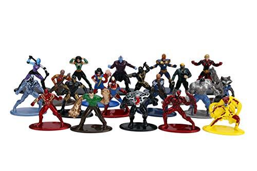 Jada - Set 20 Nano Figuras de Personajes Marvel de la película Avengers Civil War, en Metal Fundido a Presión, Licencia Oficial, 4 cm, Coleccionismo, para Niños a Partir de 8 Años y Adultos