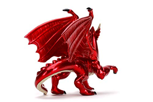 Jada Toys- Dragones y Mazmorras NanoFiguras 4cm, En Metal, Enano Clérigo, Elfo Rogue, Tiefling Paladin, Guerero Humano, Dragón Rojo, Ideal para Coleccionsimo