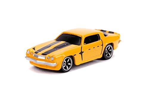 Jada Toys Transformers 253111000 - Juego de 3 Coches de Juguete Nano Bumblebee, Optimus Prime, Rueda Libre, 4 cm, a Partir de 3 años, Multicolor