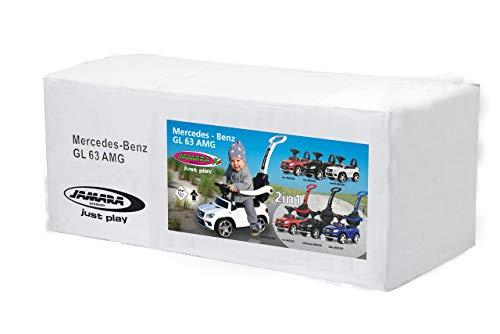 Jamara 460434 - Correpasillo Mercedes-AMG GL 63 Negro 2en1 – Antivuelco, Asiento en Piel sintética, Luz Delantera y Trasera, Soporte, Protección Lateral