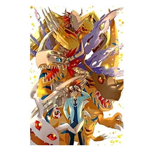 JAZC Puzzles Hijos Adultos Rompecabezas 300/500/1000 PC, Digimon de Dibujos Animados, Royal Knight Juego de Puzzle Educación Intelectual (Color : B, Size : 1000pc)