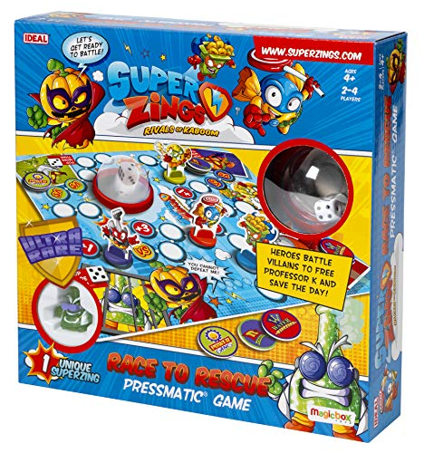 John Adams 10749 SuperZings Race to Rescue Pressmatic Game, Multi
