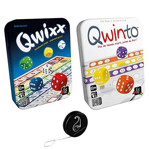 Juego de 2 juegos: Qwixx + Qwinto + 1 Yoyo Blumie.