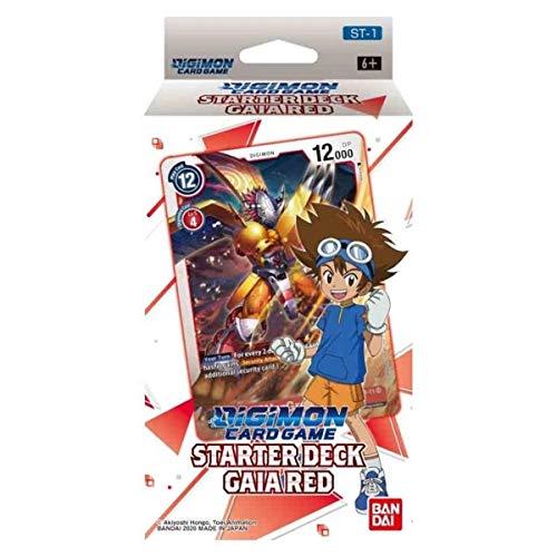 Juego de Cartas Digimon: Baraja de iniciación - Gaia Red ST-1