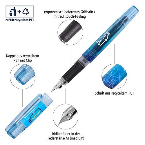 Juego de escritura 2nd Life de Online con cuaderno DIN A5, estuche, bolígrafo y pluma, de PET reciclado para un medio ambiente limpio, lápices sostenibles, bloc de notas y estuche