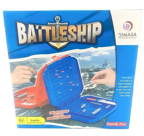 Juego de Mesa de Barco de Batalla, el clásico Juego de Combate Naval, Hundir los Barcos, 2 Jugadores. ¿Puedes vencer a tu oponente?