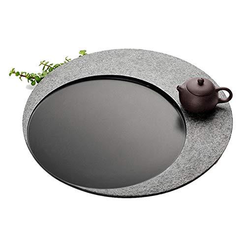 Juegos de té Mini Bandeja De Té Redonda Mesa De Té Pequeña En La Sala De Té para El Hogar Bandeja De Té De Kung Fu para Hacer Té Drenaje Oculto (Size : 35x35x3cm)