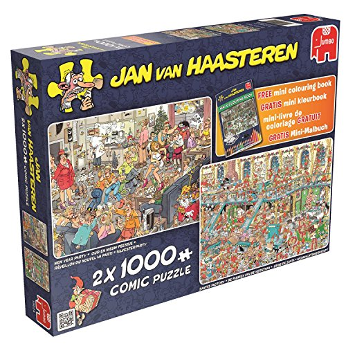 Jumbo - Puzzle Happy Holidays, 2 x 1000 Piezas (619024)
