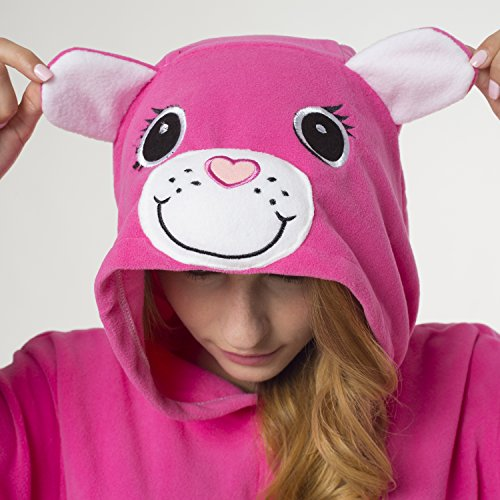 Katara- Pijamas Care Bears (4+ Modelos) Disney Traje de Oso Carnaval Adulto, Color amorosita rosa, Talla 175-185cm (1744) , color/modelo surtido