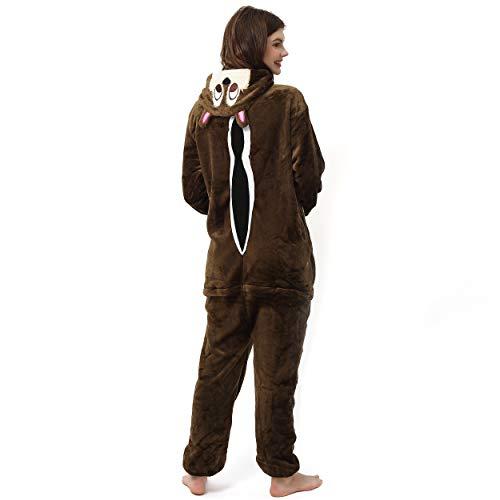Katara- Pijamas Enteros Diferentes Animales y Tamaños, Adultos Unisex, Color Ardilla marrón, Talla 145-155cm (1744)