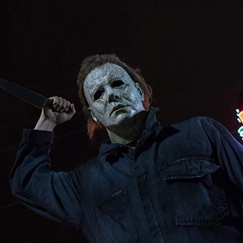 KELAND Máscara de Michael Myers Halloween Mask Carnaval Horror Cosplay Disfraz (Gris)