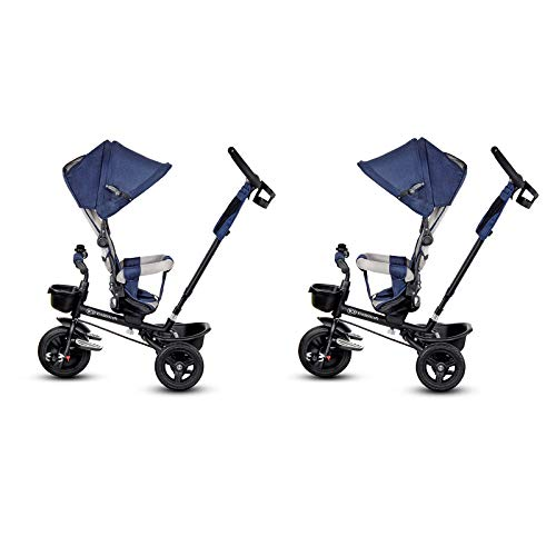 Kinderkraft Triciclo Plegable Aveo, Asiento Giratorio, hasta 5 Años, Azul