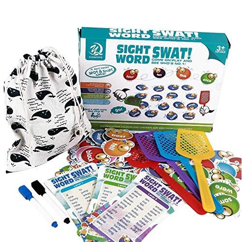 Learning Resources Matamoscas Word Swat un juego de palabras de visión para juegos táctiles y auditoriales, mejora la confianza y la lectura fluida de los niños