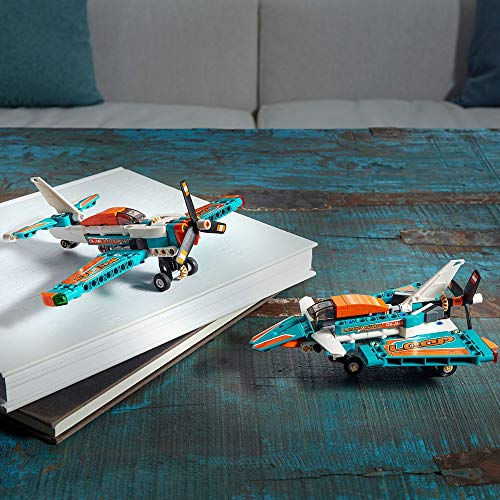 LEGO 42117 Technic Avión de Carreras, Modelo 2 en 1, Avión de Juguete o Avión de Reacción, Set de construcción para Niños a Partir de 7 años