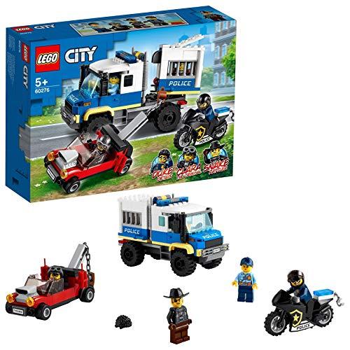 LEGO 60276 City Transporte de Prisioneros de Policía, Juguete de Remolque, Set de Expansión de Estación de Policía