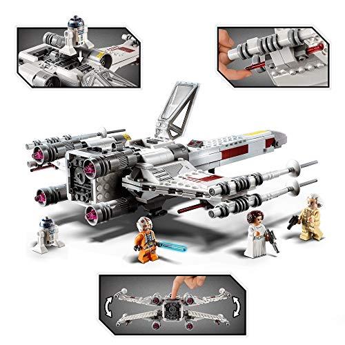 LEGO 75301 Star Wars Caza Ala-X de Luke Skywalker, Juguete con Figura de Princesa Leia y R2-D2 Droide