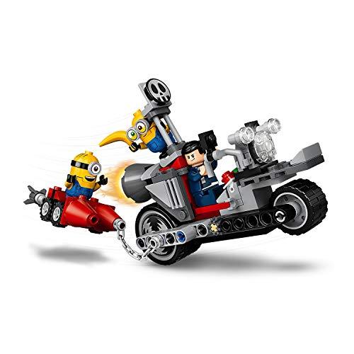 LEGO 75549 Minions Persecución en la Moto Imparable, Juguete de Construcción con Figuritas de Gru, Stuart y Bob