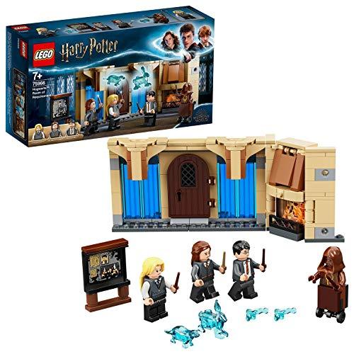 LEGO 75966 Harry Potter Sala de los Menesteres de Hogwarts, Juguete de Construcción con Figuritas, para Niños de +7 años