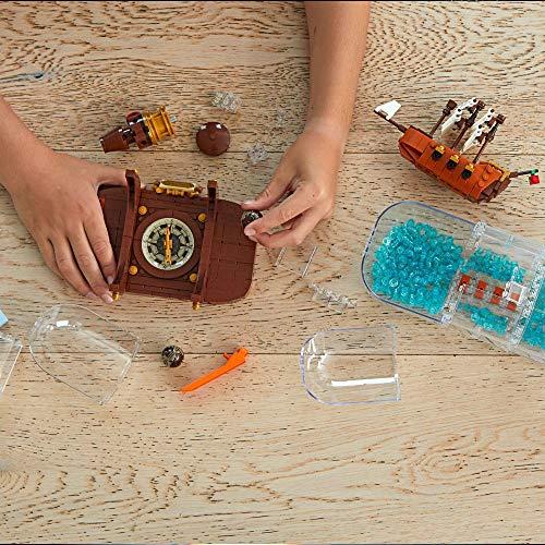 LEGO 92177 Ideas Barco en una Botella Set de Construcción para Coleccionistas con Soporte para Exposición